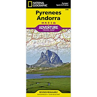 photo: National Geographic Pyrenees and Andorra Adventure Map international paper map