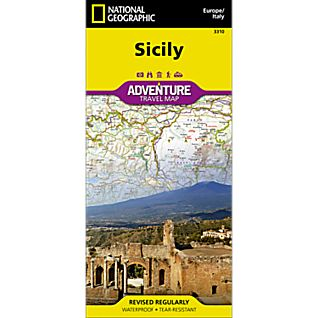National Geographic Sicily Adventure Map