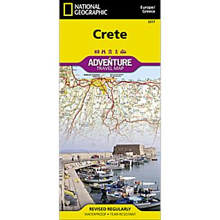 National Geographic Crete Adventure Map