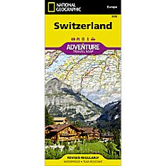 National Geographic Switzerland Adventure Map