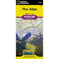 National Geographic Alps Adventure Map
