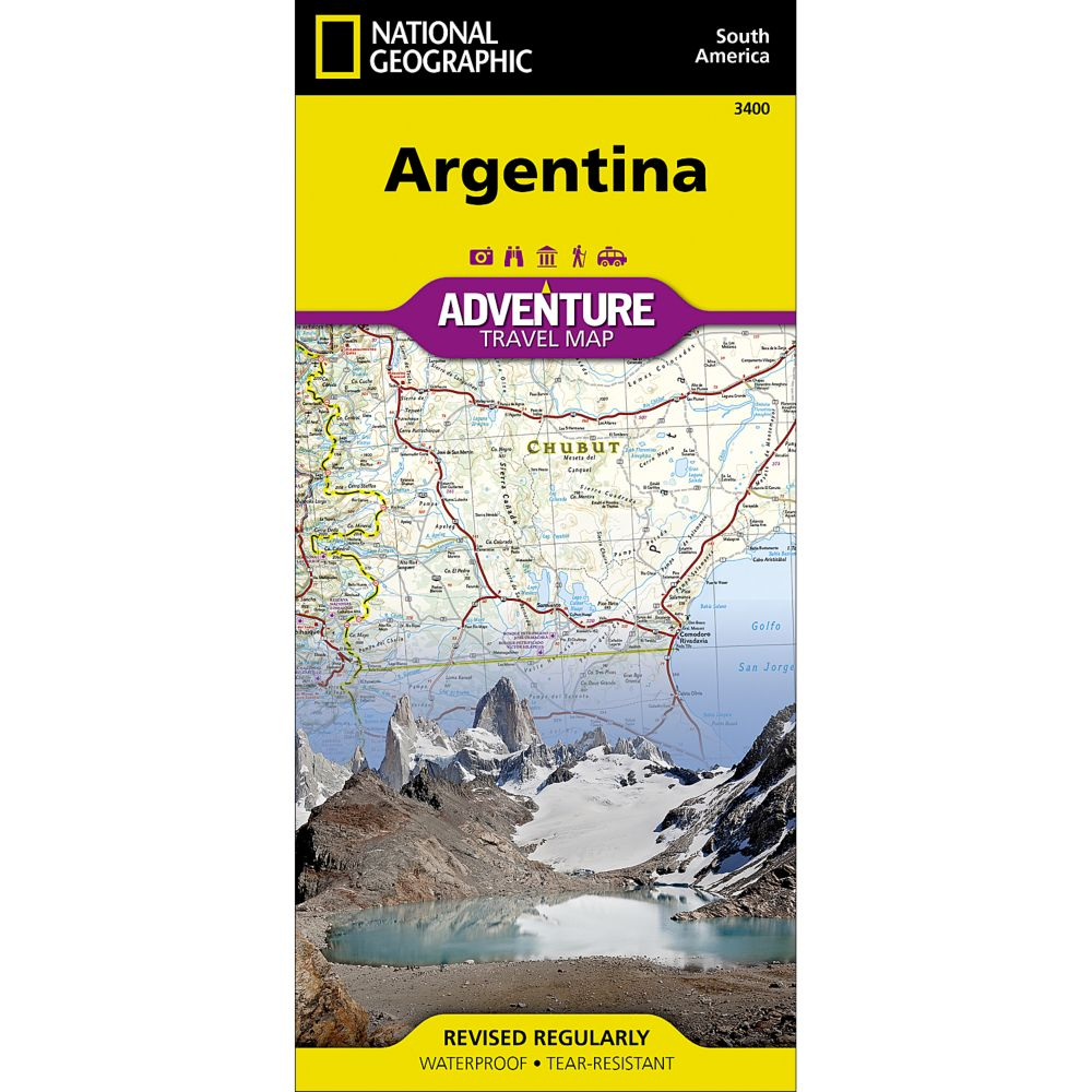 National Geographic Argentina Adventure Map