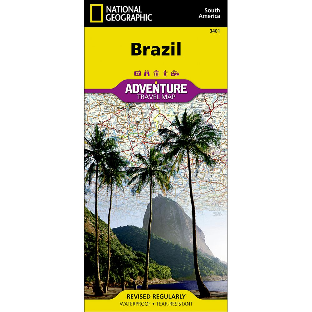 photo: National Geographic Brazil Adventure Map international paper map
