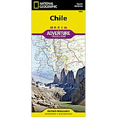Chile Adventure Travel and Hiking Map