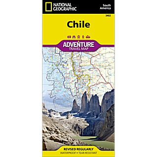 National Geographic Chile Adventure Map