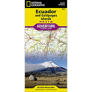 National Geographic Ecuador and Galapagos Adventure Map