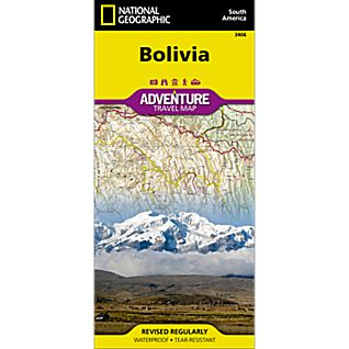 photo: National Geographic Bolivia Adventure Map international paper map
