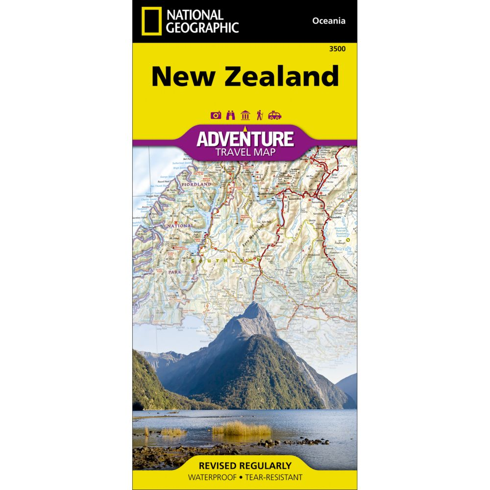 photo: National Geographic New Zealand Adventure Map international paper map