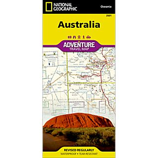 photo: National Geographic Australia Adventure Map international paper map