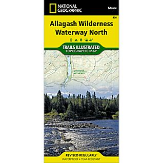 photo: National Geographic Allagash Wilderness Waterway North Trail Map