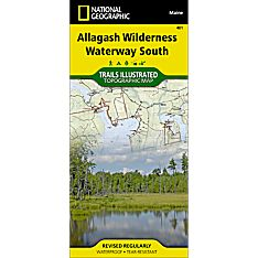 401 Allagash Wilderness Waterway South Trail Map, 2011