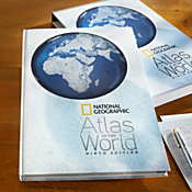 National Geographic 9th Edition Atlas of the World   Hardcover