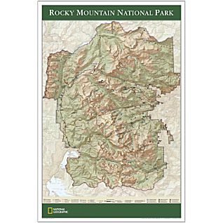 Rocky Mountain National Park Map Poster