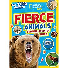 Kids Fierce Animals Sticker Activity Book, 2015