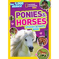 Kids Ponies and Horses Sticker Activity Book, 2015