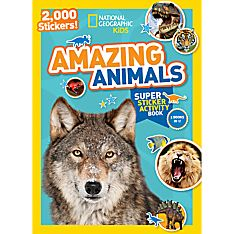 Kids Amazing Animals Super Sticker Activity Book, Ages 4-8