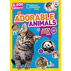 Kids Adorable Animals Super Sticker Activity Book, Ages 4-8