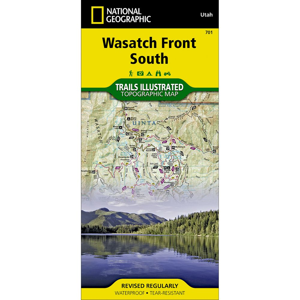 photo: National Geographic Uinta National Forest Trail Map  us mountain states paper map