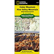 702 Cedar Mountain/Pine Valley Mountain Trail Map, 2000