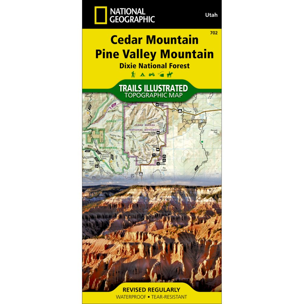 photo: National Geographic Cedar Mountain/Pine Valley Mountain Trail Map