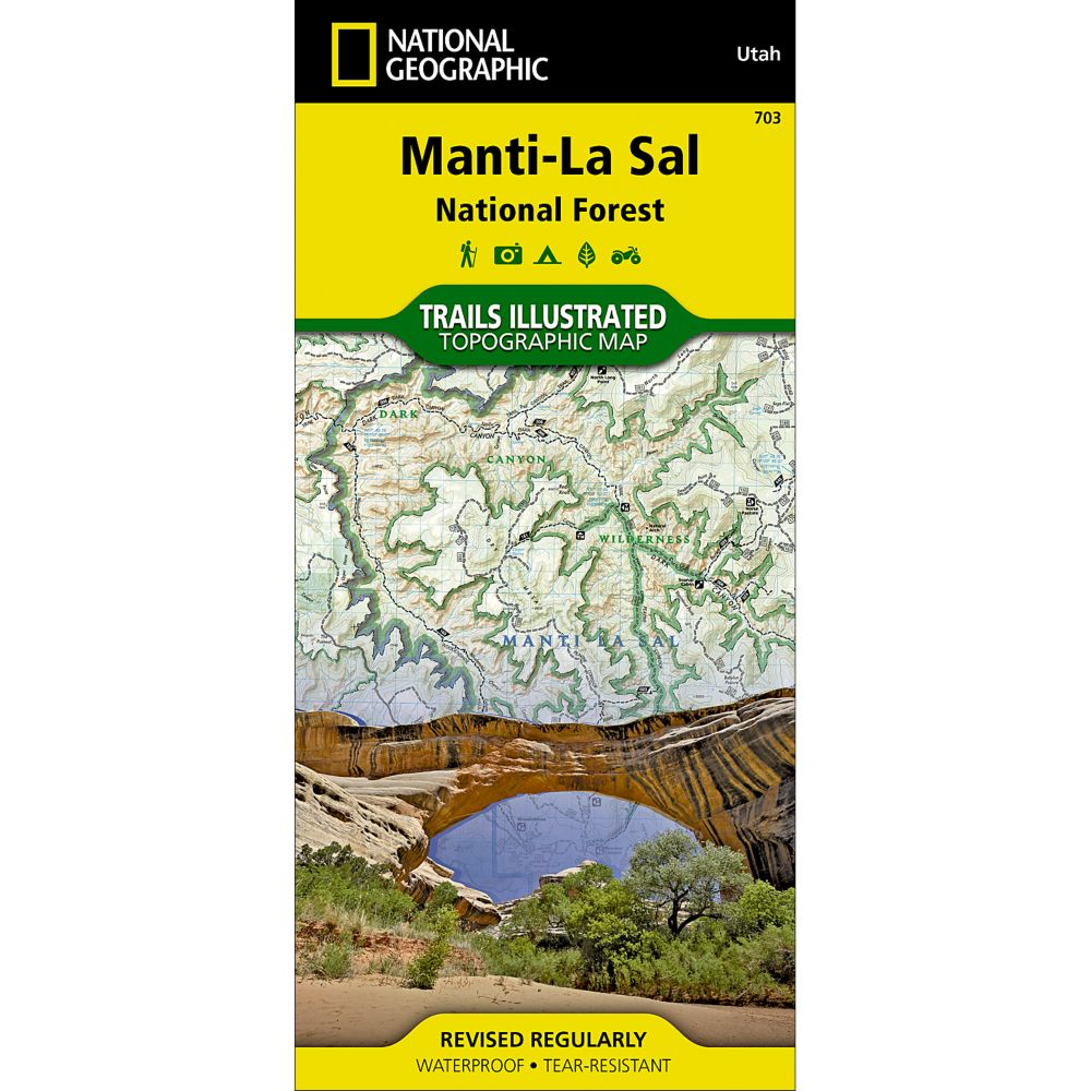 photo: National Geographic Manti-LaSai National Forest Trail Map