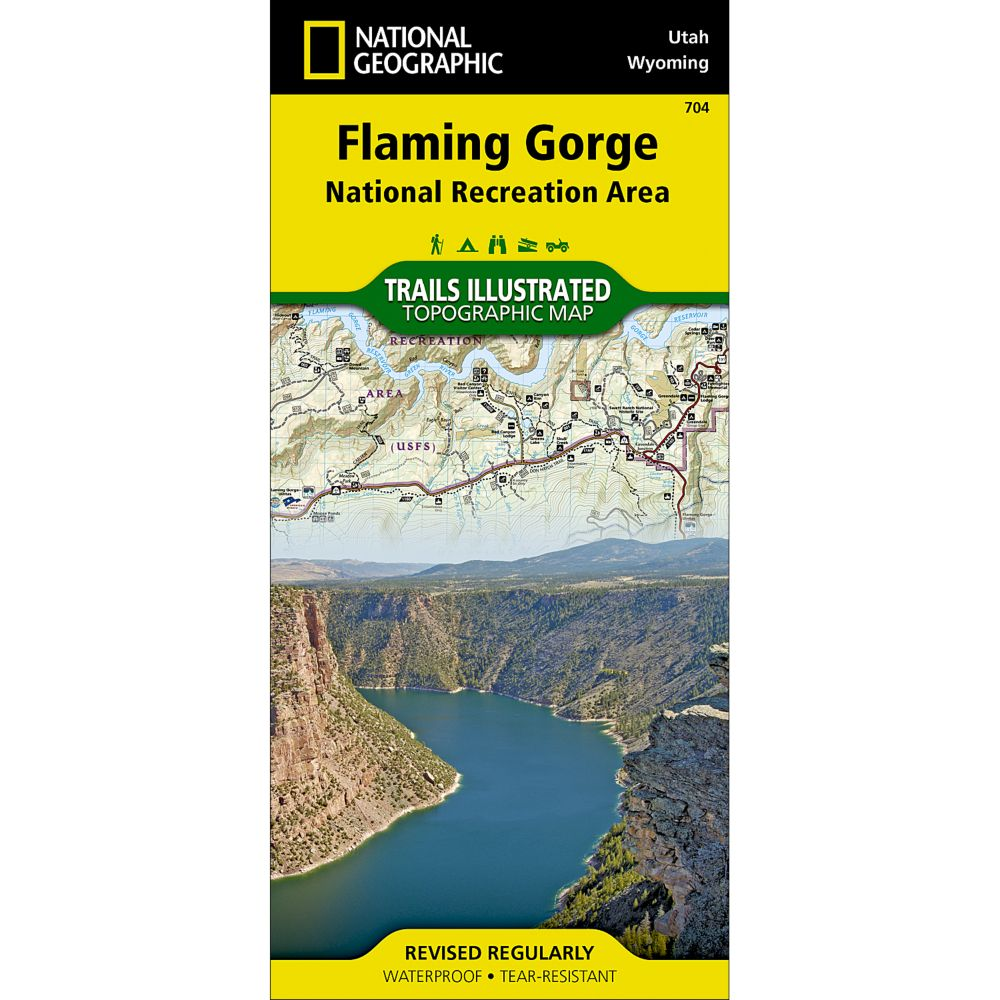 National Geographic Flaming Gorge National Recreation Area Trail Map
