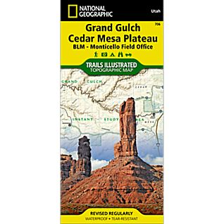 706 Grand Gulch, Cedar Mesa Plateau (BLM - Monticello Field Office) Trail Map
