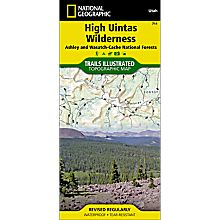711 High Uintas Trail Map, 2006
