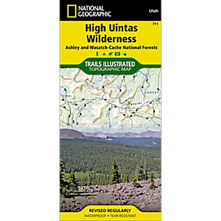 711 High Uintas Wilderness (Ashley and Wasatch-Cache National Forests) Trail Map
