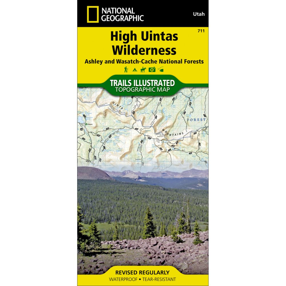 photo: National Geographic High Uintas Wilderness Trail Map  us mountain states paper map