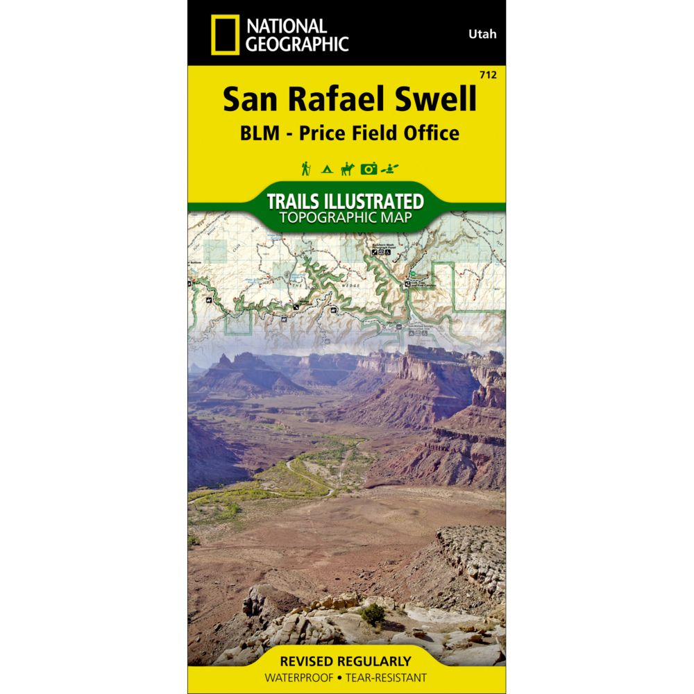 photo: National Geographic San Rafael Swell Trail Map  us mountain states paper map