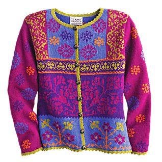Magenta Peruvian Alpaca Sweater