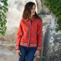 Embroidered Apparel - Winding Lotus Embroidered Jacket