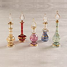 Miniature Egyptian Glass Perfume Bottle Set