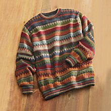 Mens Bolivian Alpaca Sweater
