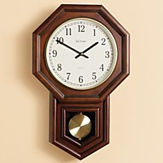 Schoolhouse Radio-controlled Wall Clock