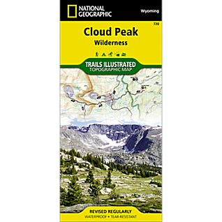 photo: National Geographic Cloud Peak Wilderness Trail Map