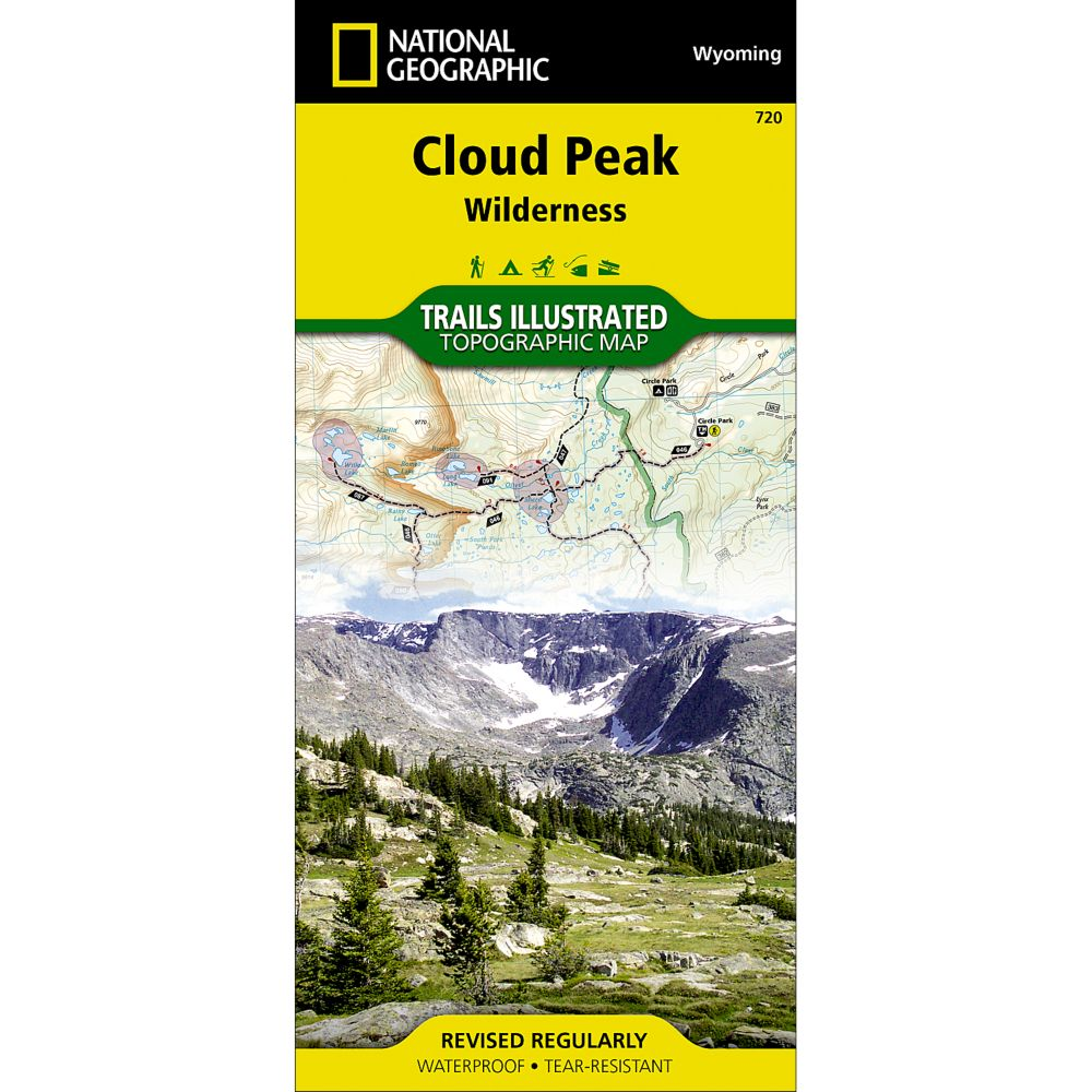 National Geographic Cloud Peak Wilderness Trail Map