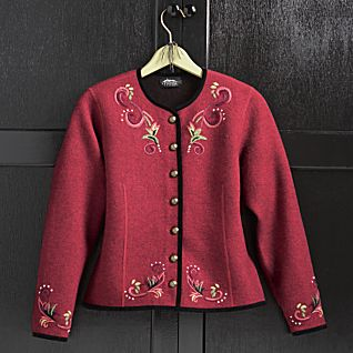 Red Belvedere Palace Wool Jacket