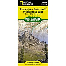 722 Absaroka Beartooth Wilderness East Trail Map, 2013