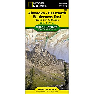View 722 Absaroka Beartooth Wilderness East Trail Map image