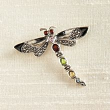 Handcrafted Thai Dragonfly Brooch