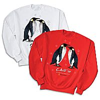 Chill' in Emperor Penguin Sweatshirt