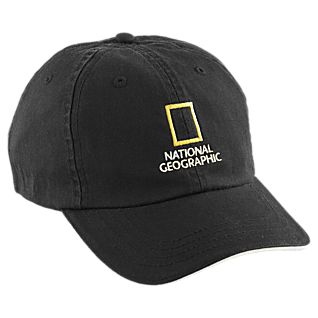 National Geographic Black Baseball Cap