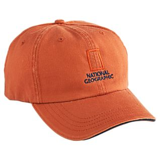 National Geographic Orange Baseball Cap