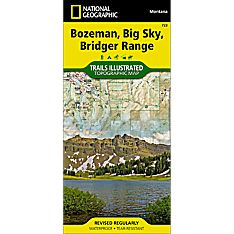723 Bozeman, Big Sky, Bridger Range Trail Map