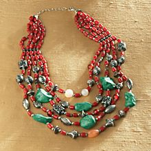 Hand-Crafted Himalayan Earth & Sky Necklace