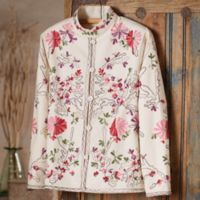 Embroidered Apparel - Indian Embroidered Floral Jacket