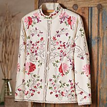 Women's Indian Embroidered Floral Jacket