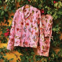 Indian Clothing - Indian Floral Travel Pajamas - Size Large